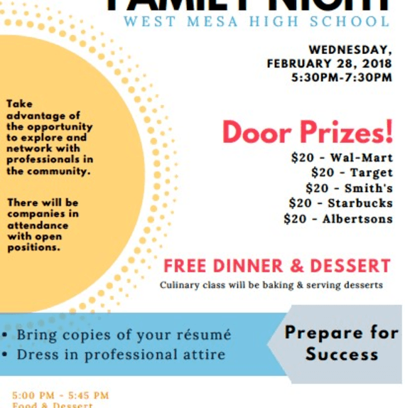 Family Career Fair 2/28